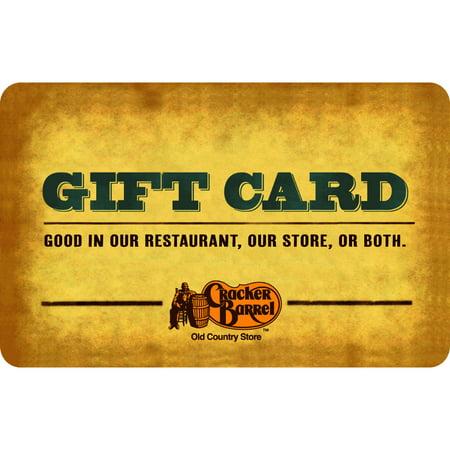 Cracker Barrel $25 Gift Card