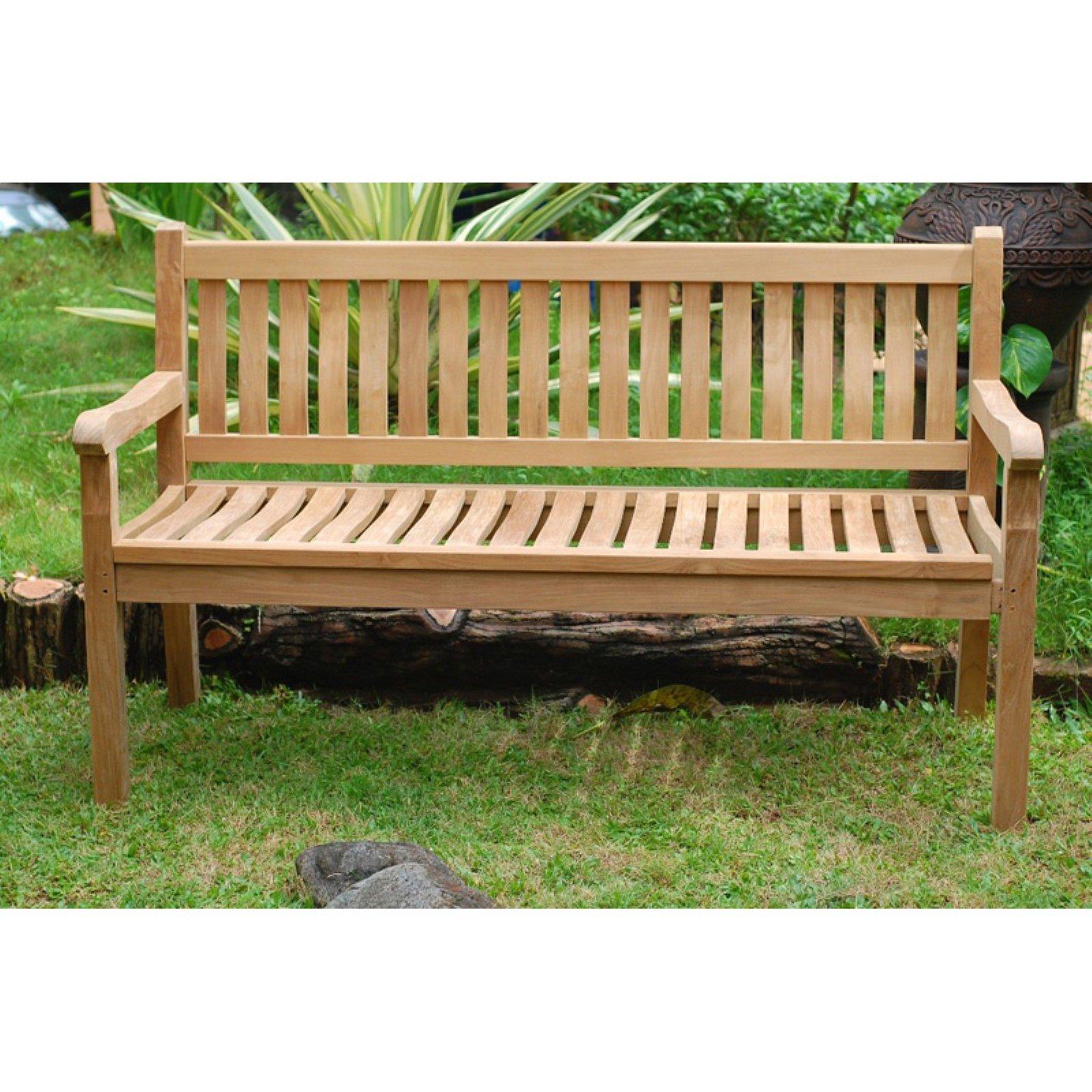 Windsor Teak Furniture Outdoor Bench with Contoured Seat by Windsor Teak Furniture