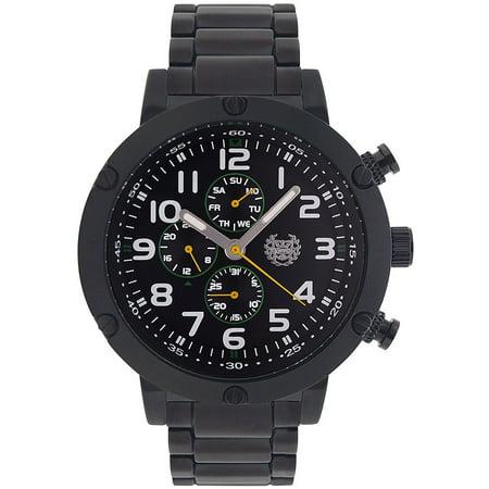 Mens Black Bracelet Watch Multifunction Big Face Large Dial Relojes de Hombres