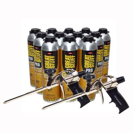 Dow Great Stuff PRO Wall and Floor Kit, 12-26.5 oz Wall & Floor, 2 AWF Pro Foam Guns Pro Floor Kit