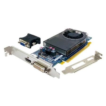 742920-002 765665-001 AMD Radeon R7 240 2GB LP FH Hdmi DVI Video Card W/ DVI-TO-VGA Adapter PCI-EXPRESS Video