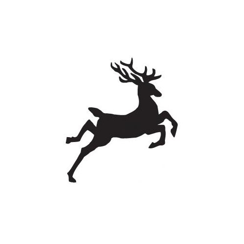 Sarasota Stamps Mounted Rubber Jumping Reindeer Stamp (Set of 3)