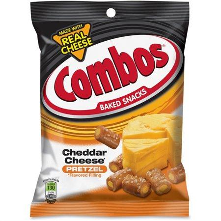 Cheddar Pretzel - Combos, MRS71471, Mars Flavia Cheddar Cheese Filled Pretzel, 18 / Box