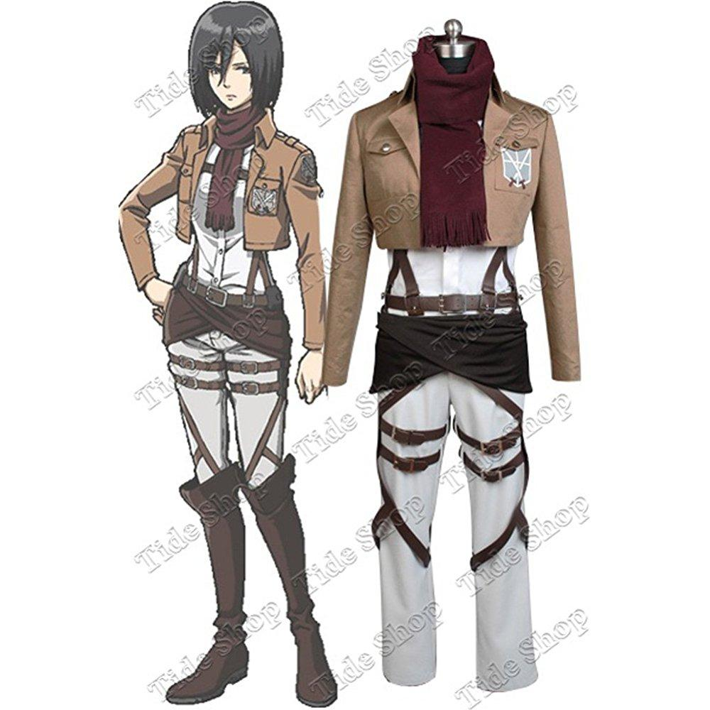 Shingeki No Kyojin Attack On Titan Mikasa Ackerman Cosplay Costume Tailor Made Walmart Com