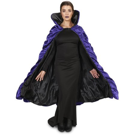 Purple and Black Reversible Cape Adult Halloween Accessory for $<!---->