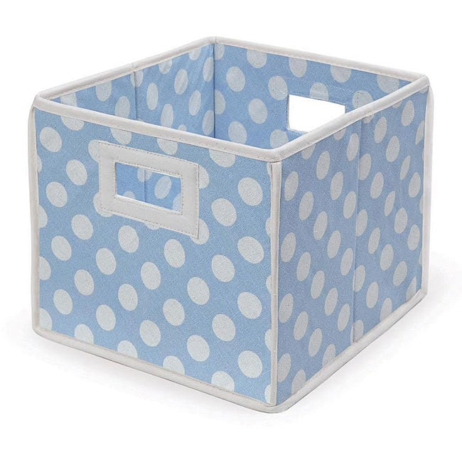 Badger Basket Blue Polka Dot Folding Storage Baskets (Pack of 3) by Overstock