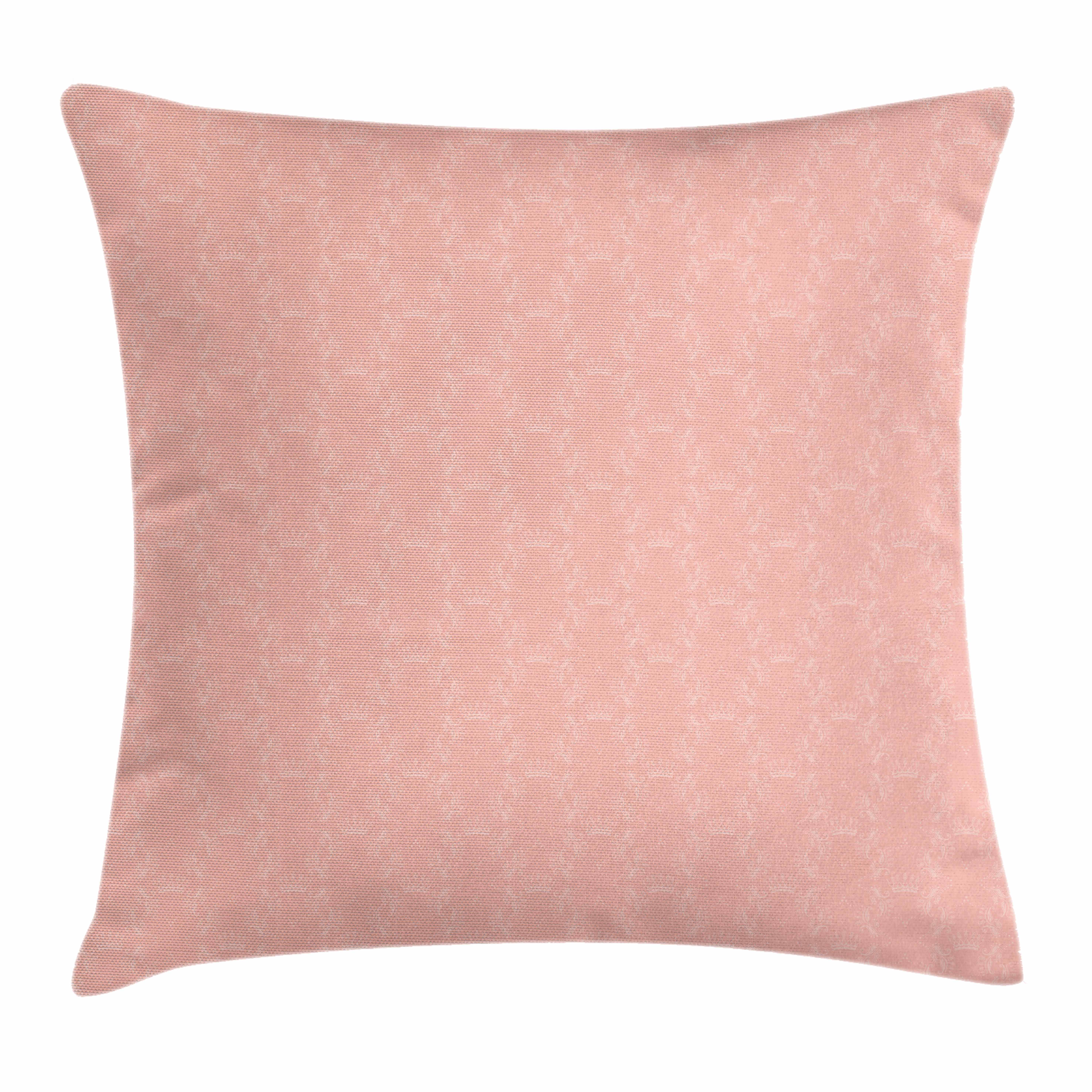 Peach Throw Pillow Cushion Cover Soft Colored Background With
