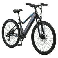 Schwinn Boundary ELECTRIC Mountain Bike, 29-inch wheels, 7 speeds, 250-watt pedal assist motor, black