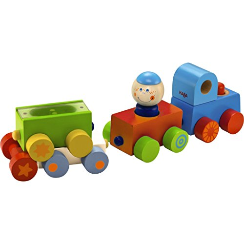 HABA Habatown All Aboard Wooden Magnetic Stacking Train
