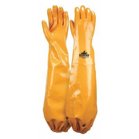 "MCR SAFETY Gloves,Nitrile,L,25""L,Cotton,PR MG9796L"