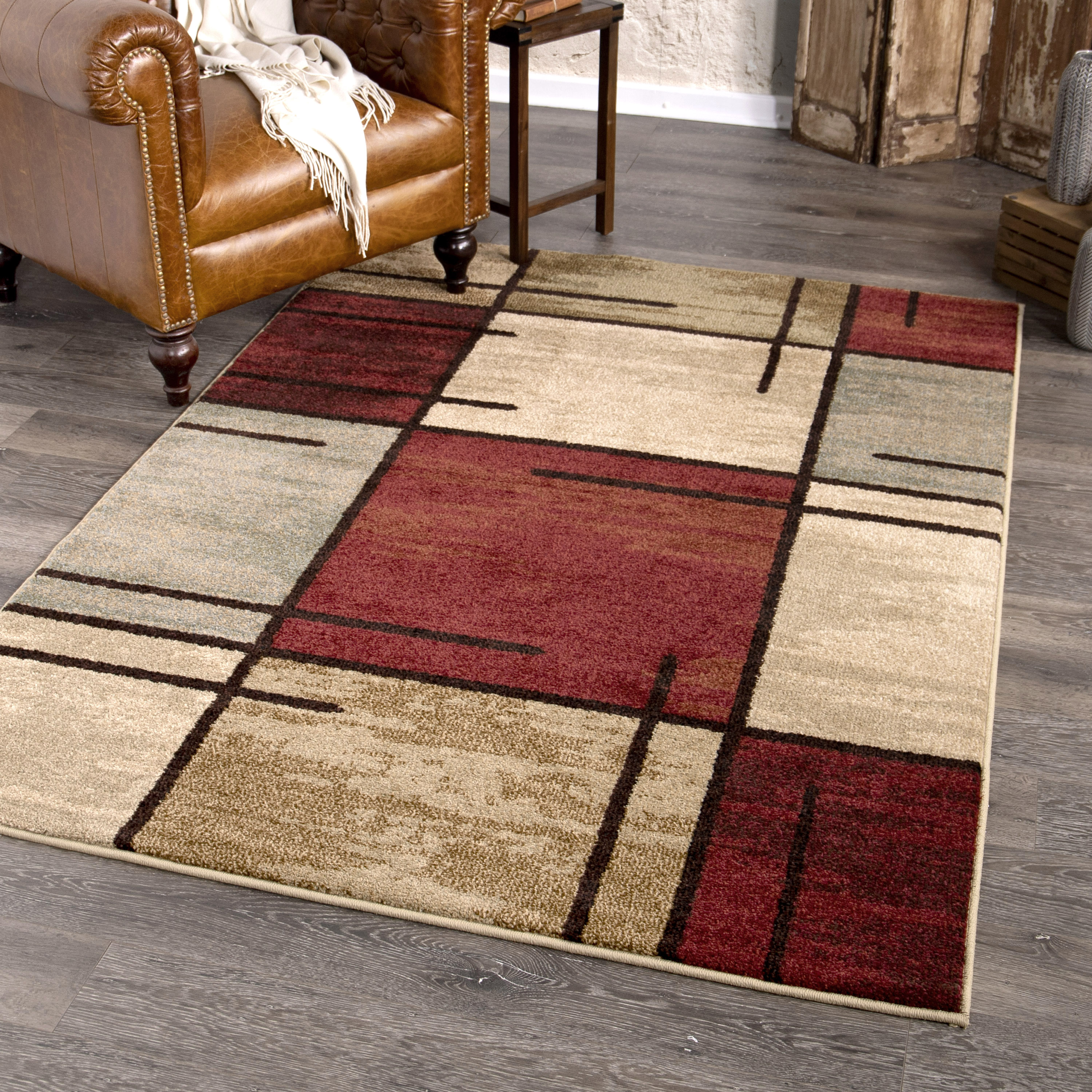 Better Homes Gardens Spice Grid Area Rug Walmart Com Walmart Com
