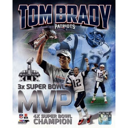 Tom Brady Super Bowl XLIX MVP Portrait Plus Sports Photo