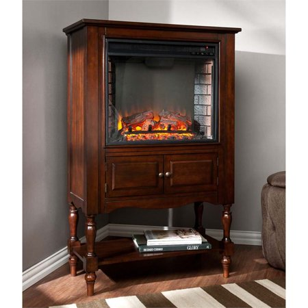 Southern Enterprises Providence Electric Fireplace Tower in Mahogany