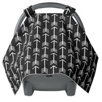 Car seat Covers for Babies - Carseat Canopy - Baby car seat Cover for Newborn boy and Infant Boys - Black Arrow