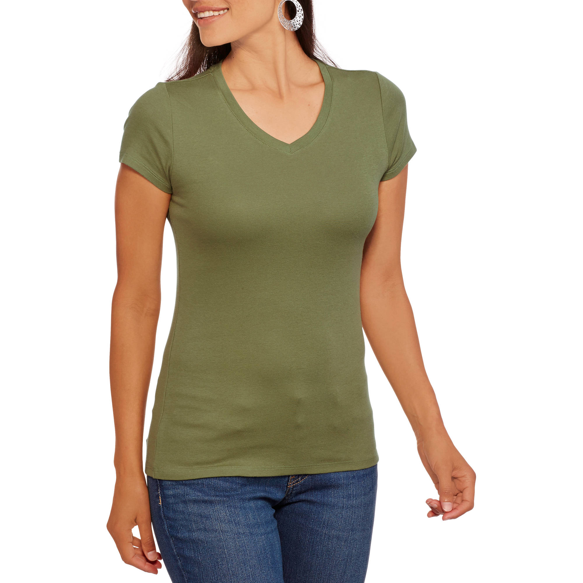 Faded Glory Women's Short Sleeve Essential V-Neck Tee