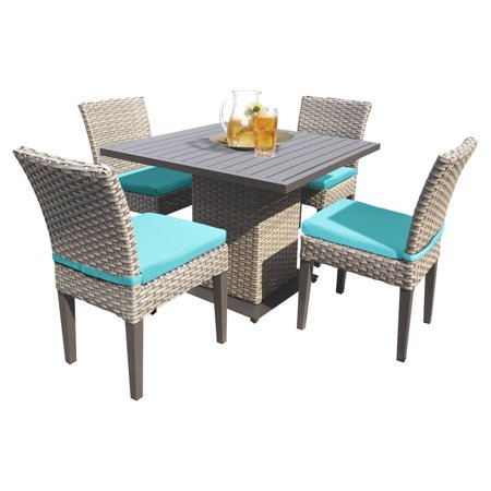 Monterey Wicker 5 Piece Patio Dining Set ()