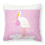 It's a Baby Girl Fabric Decorative Pillow