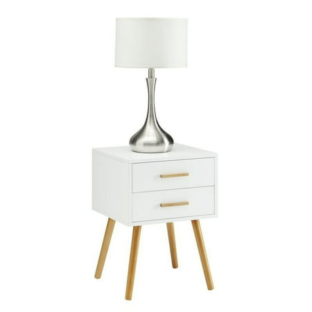 Convenience Concepts Oslo 2 Drawer End Table in White - image 2 of 3