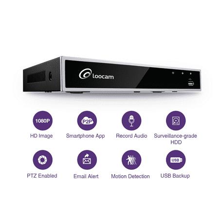 - Loocam 4CH 1080p High Definition H.264 Hybrid 4-in-1 TVI DVR Surveillance System (Analog/AHD/TVI/CVI) Digital Video Recorder, Motion Dection, Mobile Remote Control, Email Alerts(1TB)