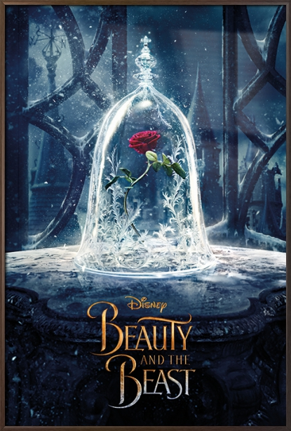 "Beauty And The Beast Movie Poster   Print (Teaser Enchanted Rose) (Size: 24"" x 36"") by"