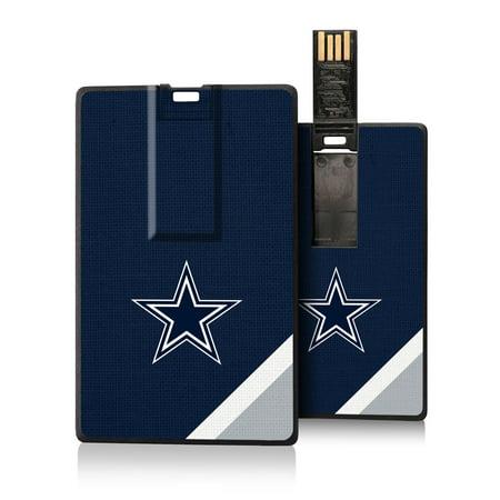 Dallas Cowboys Diagonal Stripe Credit Card USB Drive - No (Dallas Cowboys Credit Card)