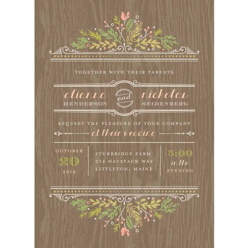 Woodland Wedding Standard Wedding Invitation