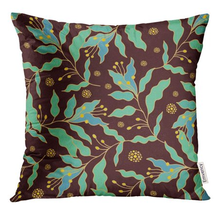 - ARHOME Flower Floral Pattern Batik Patch Ethnic Malaysia Pillow Case 16x16 Inches Pillowcase