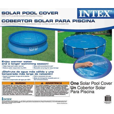 Intex 12 Foot Easy Set And Metal Frame Swimming Pool Solar