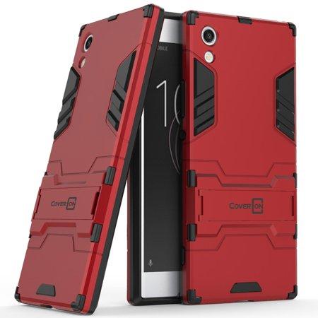 CoverON Sony Xperia XA1 Case, Shadow Armor Series Hybrid Kickstand Phone Cover