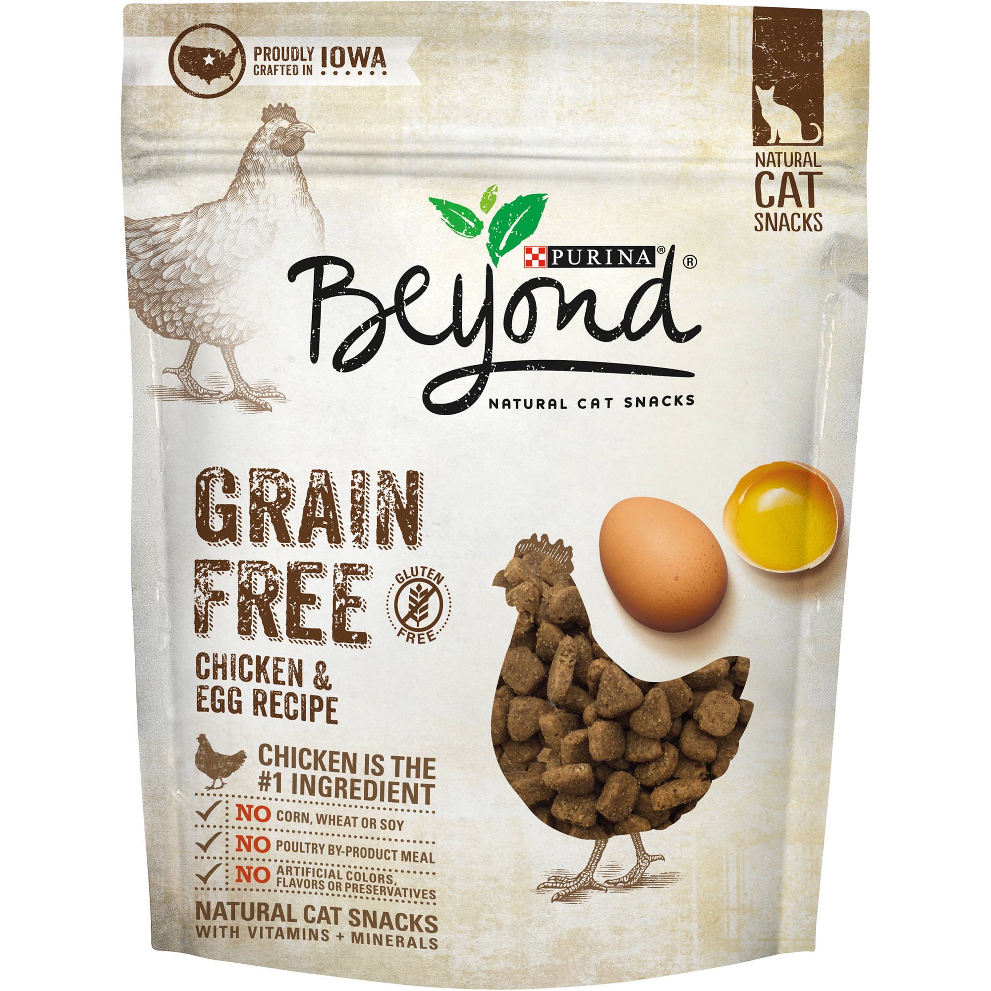 (2 Pack) Purina Beyond Grain Free Chicken & Egg Recipe Natural Cat Snacks, 2.1 Oz