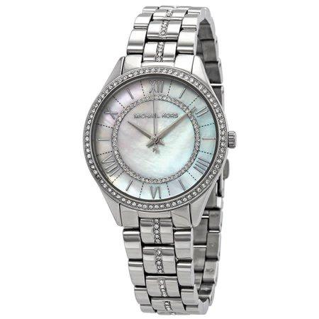 Michael Kors Lauryn Crystal Mother of Pearl Dial Ladies Watch MK3900