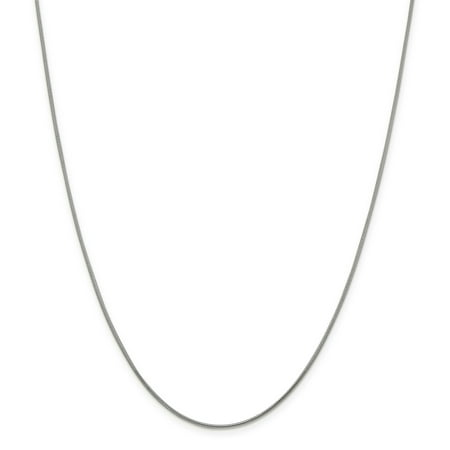 925 Sterling Silver 1.2mm Round Snake Chain 30 Inch - image 5 of 5