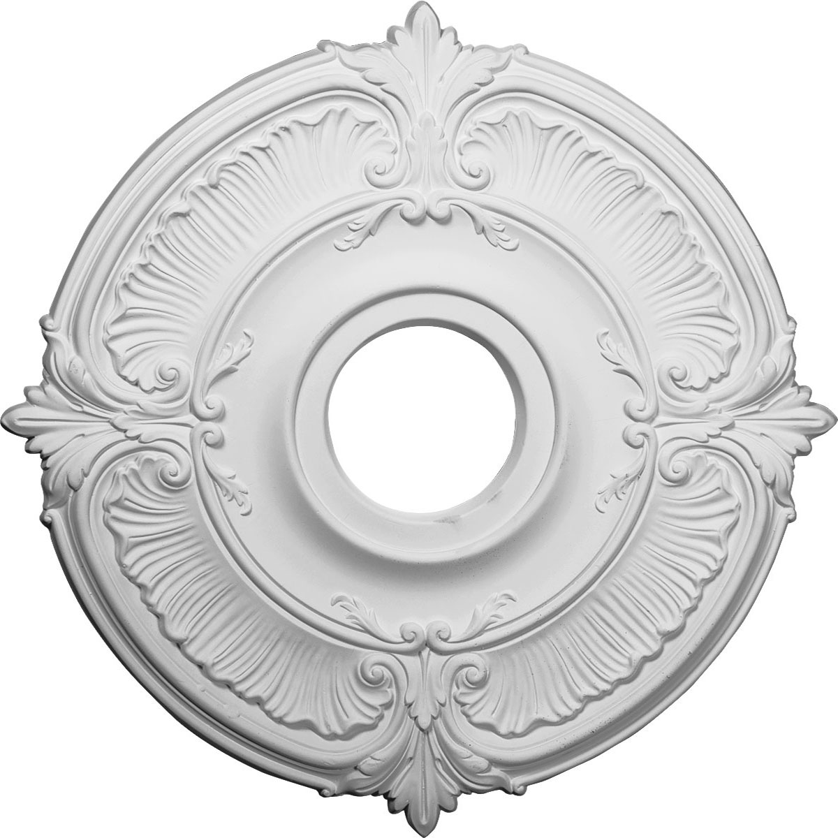 """18""""OD x 4""""ID x 5/8""""P Attica Ceiling Medallion (Fits Canopies up to 5"""")"""