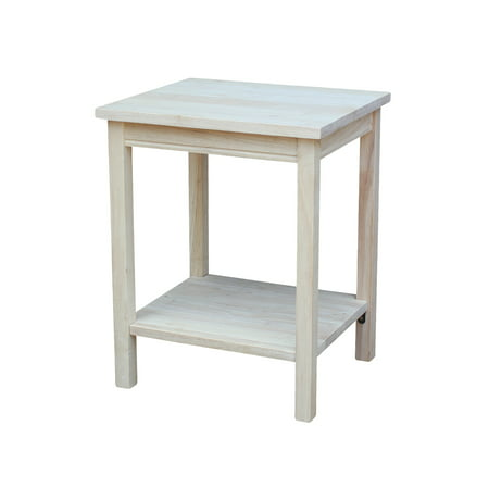 Unfinished Wood End Table (International Concepts Ot-41 Portman Accent Table, Ready To Finish )