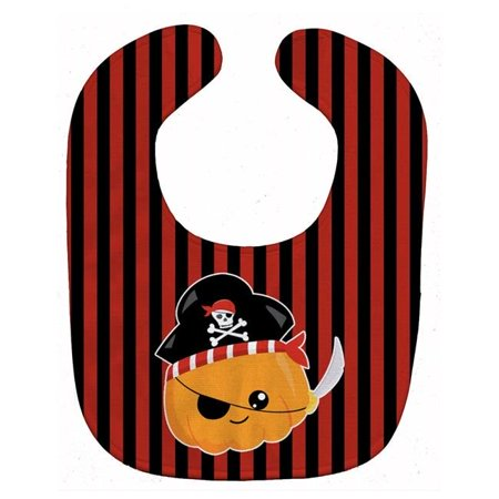 Carolines Treasures BB6962BIB Halloween Pumpkin Pirate Baby Bib