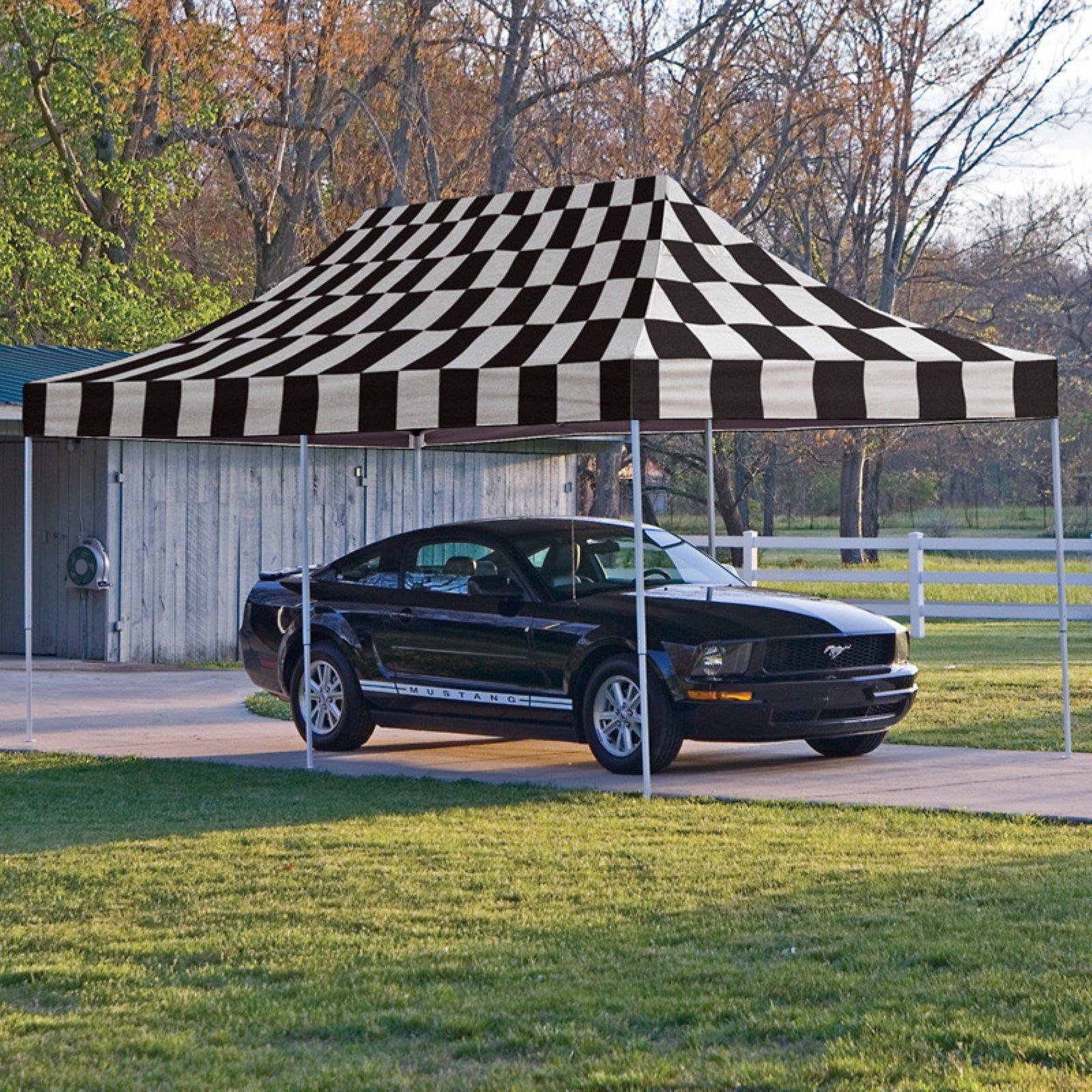 Shelterlogic 10' x 20' Pro Pop-up Canopy Straight Leg, Checkered Flag Cover