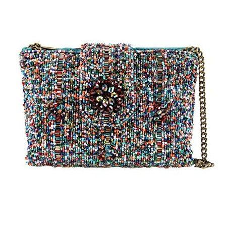 Mary Frances Carnival Mini Beaded Crossbody Bag Shimmer Handbag Purse New