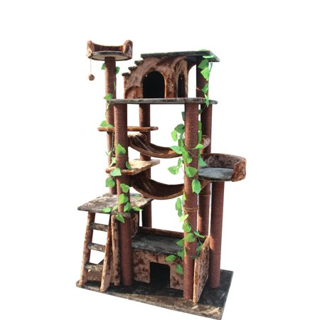 Kitty Mansions 78 in. Amazon Cat Tree ()