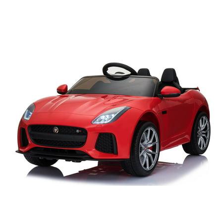 Jaguar F Type Red Licensed Dual Motor 12V Kids Ride-On Car Remote Control