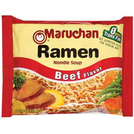 Maruchan Beef Flavor Ramen Noodle Soup, 3 oz - Walmart.com