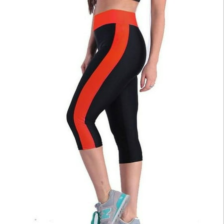 Women's Yoga Running Pants High Waist Cropped Leggings Fitness Outdoor Sports Pants