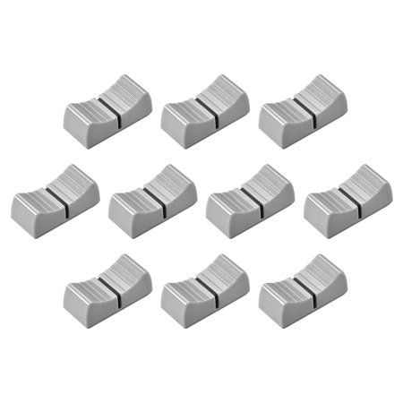 24mmx11mmx10mm Console Mixer Slider Fader Knobs Replacement for Potentiometer Gray Knob Black Mark 10 pcs Replacement Fader Knob