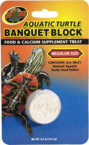 Aquatic Turtle Banquet Block, Food and calcium supplement in one By Zoo Med by
