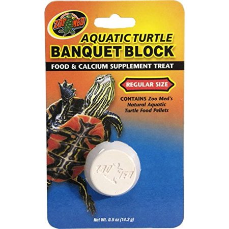 Aquatic Turtle Banquet Block, Food and calcium supplement in one By Zoo (Turtle Sulfa Block)