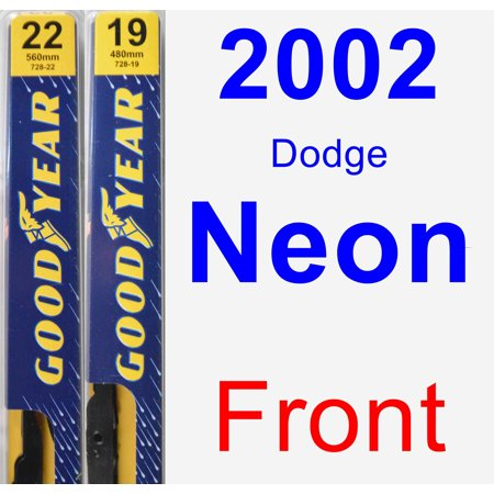 2002 Dodge Neon Wiper Blade Set/Kit (Front) (2 Blades) - Premium