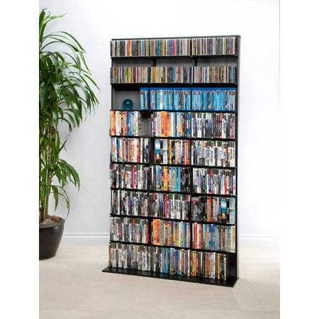 "Atlantic 71"" Elite Media Tower Storage Wall Shelf (528 DVDs, 837 CDs, 624 Blu-rays)"