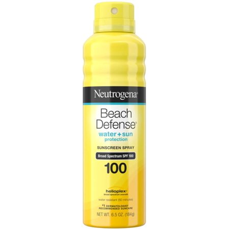 2 Pack - Neutrogena Beach Defense Body Spray Sunscreen with Broad Spectrum SPF 100, Water-Resistant and Oil-Free Sun Pro