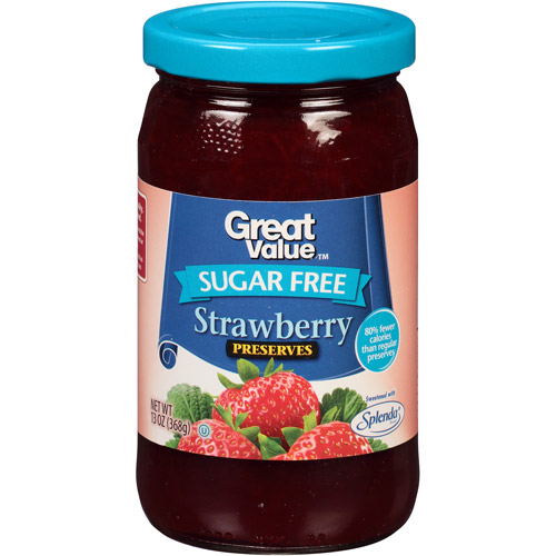 Great Value: Sugar Free Strawberry Preserves, 13 Oz