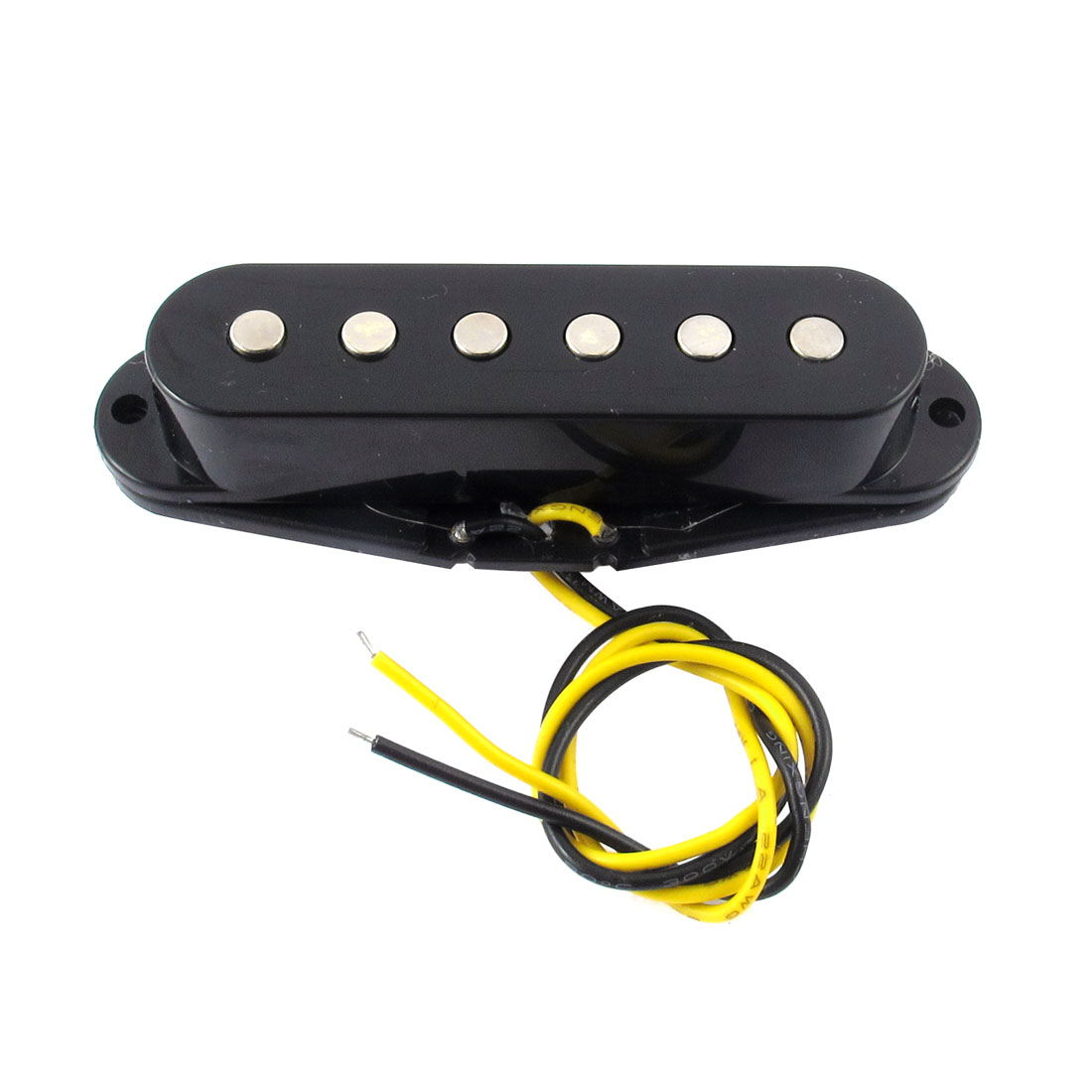 Unique Bargains LP Neck Bridge Single-coil Sound-hole Guitar Pickup for Electric Guitar Black