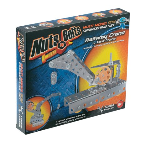 Nuts And Bolts Railway Crane Construction Set Nuts And Bolts Series 2-Railway Crane And Yard Crane
